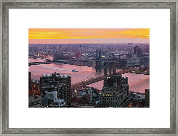 United States, New York, From Manhattan Framed Print