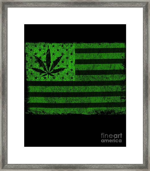 United States Of Cannabis Framed Print