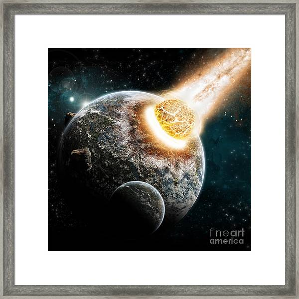 Universe And Planet Exploration - Earth Framed Print