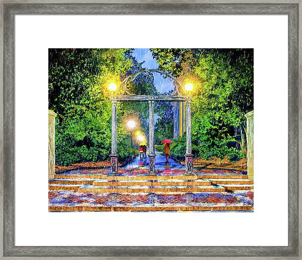 The Arch - University Of Georgia North Campus Framed Print