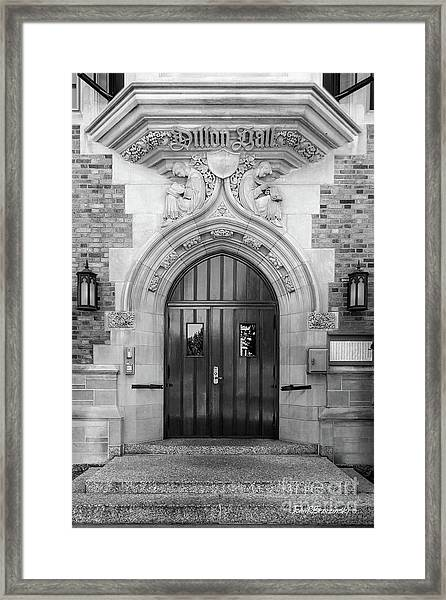 University Of Notre Dame Dillon Hall Framed Print