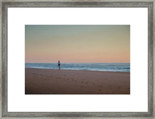 Up And Running Framed Print