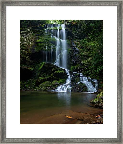 Upper Catawba Falls, North Carolina Framed Print