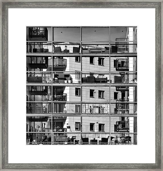 Urban City View, Urban Construction Framed Print