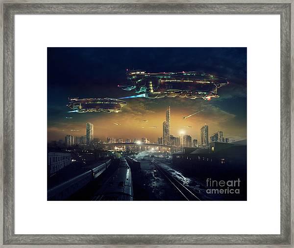 Urban Landscape Of Post Apocalyptic Framed Print