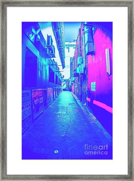 Urban Neon Framed Print