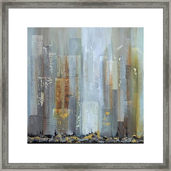 Urban Reflections I Night Version Framed Print