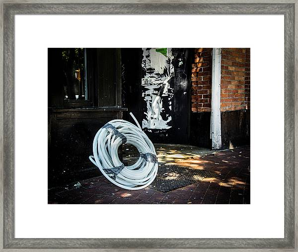 Framed Print featuring the photograph Urbanscape by Juan Contreras