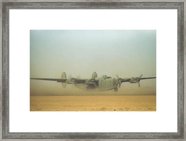 U.s Air Force In  Benghazi Libya Framed Print by Michael Ochs Archives