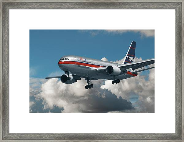 Us Air Boeing 767-200 Framed Print