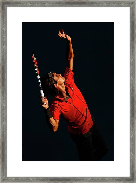 U.s. Open - Day 9 Framed Print by Al Bello