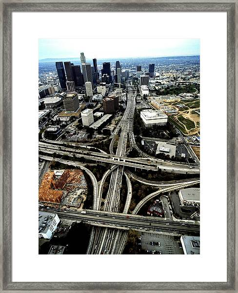Usa, California, Los Angeles, Downtown Framed Print