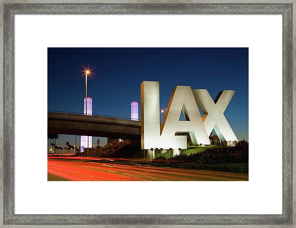 Usa, California, Los Angeles, Road To Framed Print