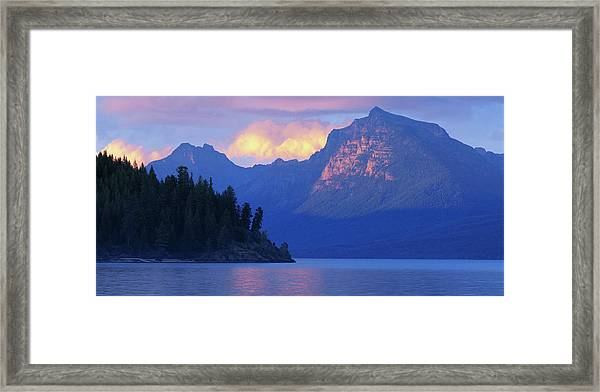 Usa, Montana, Glacier Np, Mountains Framed Print