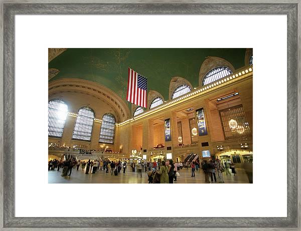 Usa, New York City, Grand Central Framed Print