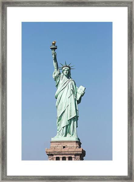 Usa, New York, New York City, View Of Framed Print