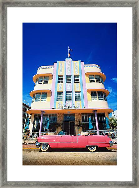 Usa,florida,miami Beach,art Deco Framed Print