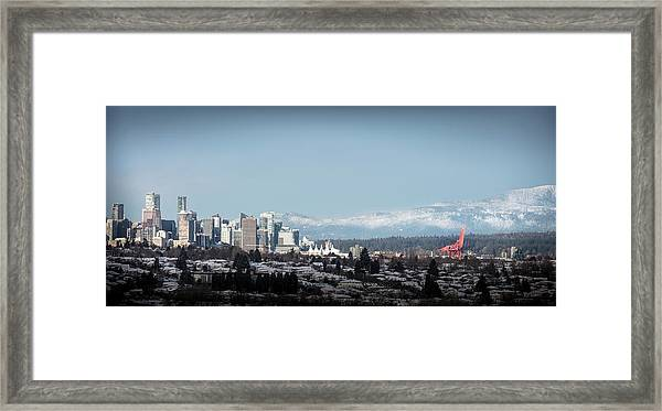 Framed Print featuring the photograph Vacouver Winter 1 by Juan Contreras