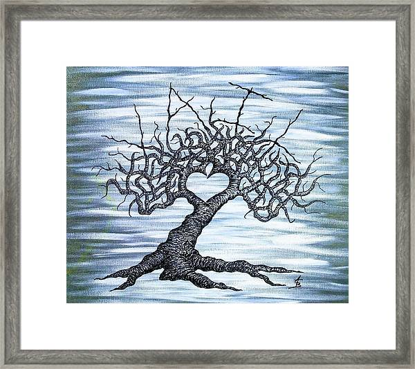 Framed Print featuring the drawing Vail Love Tree by Aaron Bombalicki