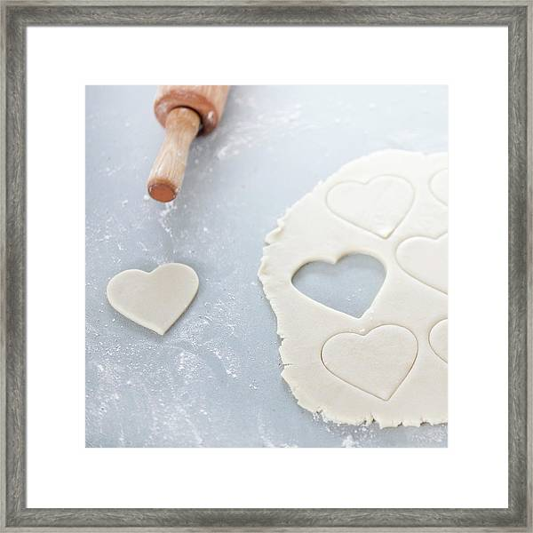 Valentines Cookie, Uncooked Framed Print
