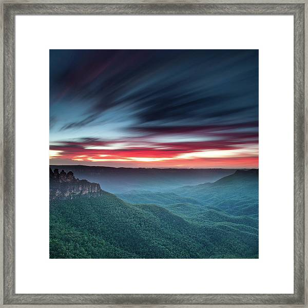 Valley Of The Sisters Framed Print