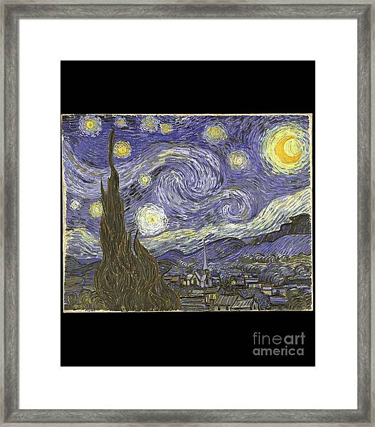 Van Goh Starry Night Framed Print