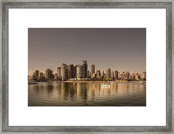 Vancouver Golden Light Hour Framed Print