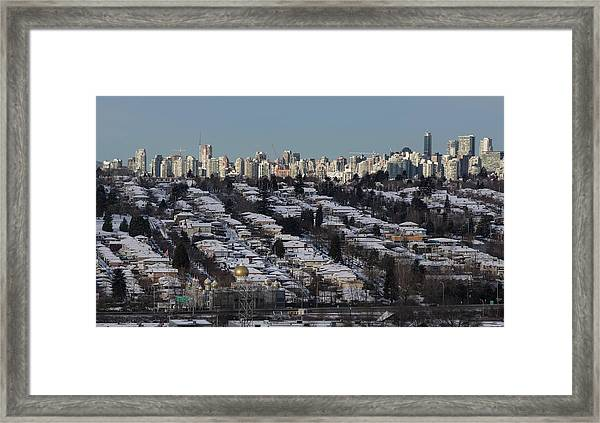 Framed Print featuring the photograph Vancouver In Winter No. 1 by Juan Contreras