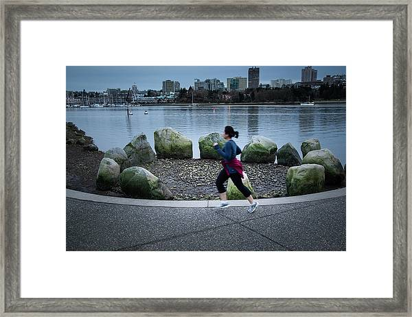 Framed Print featuring the photograph Vancouver Landscape by Juan Contreras
