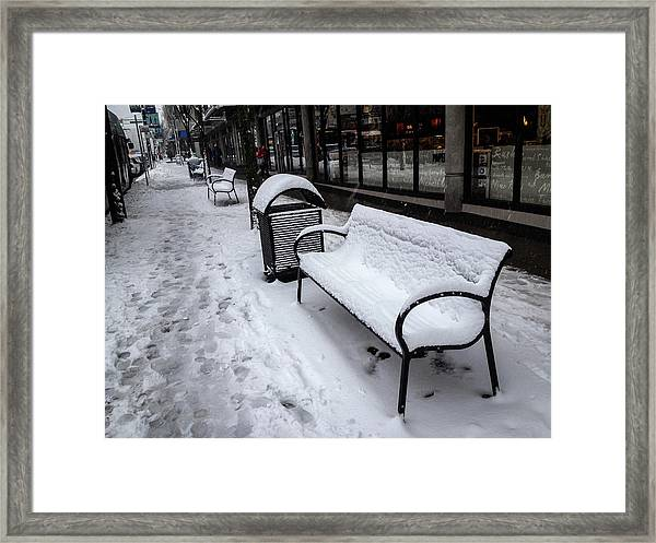 Framed Print featuring the photograph Vancouver Winter by Juan Contreras