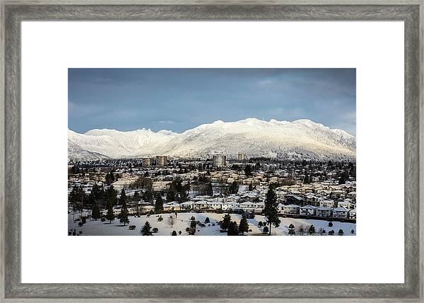 Vancouver Winterscape Framed Print