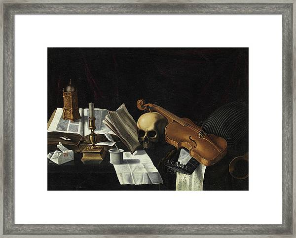 Vanitas With Violin Framed Print