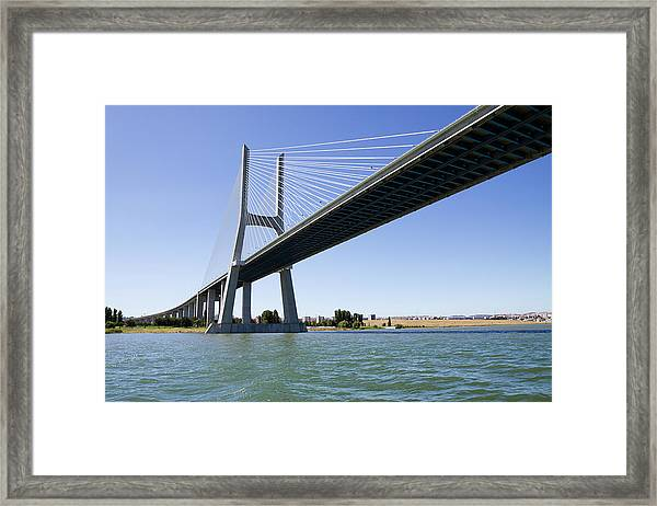 Vasco Da Gama Contemporary Cable-stayed Framed Print