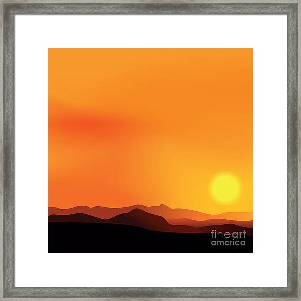 Vector Background Of The African Framed Print