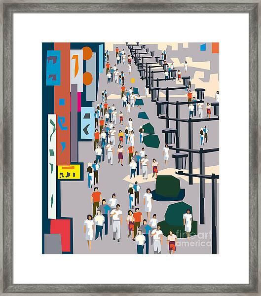 Vector City Street Framed Print