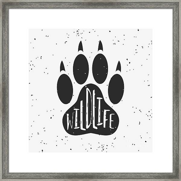Vector Hand Drawn Typographic Poster Framed Print