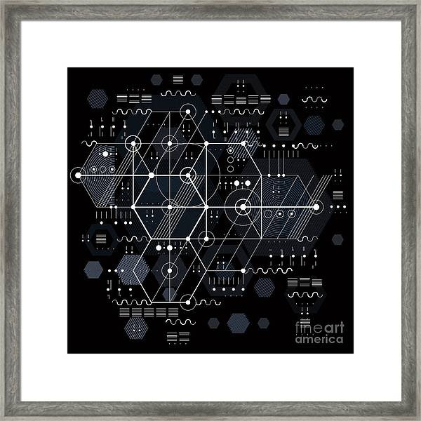 Vector Industrial And Engineering Framed Print