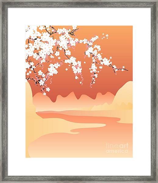 Vector Japan Background Framed Print