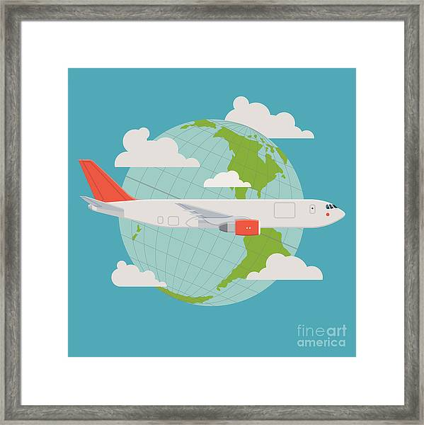 Vector Modern Delivery Web Icon On Framed Print by Mascha Tace