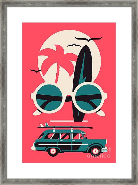 Vector Modern Flat Wall Art Poster Framed Print