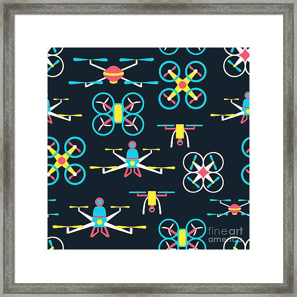 Vector Seamless Pattern With Framed Print