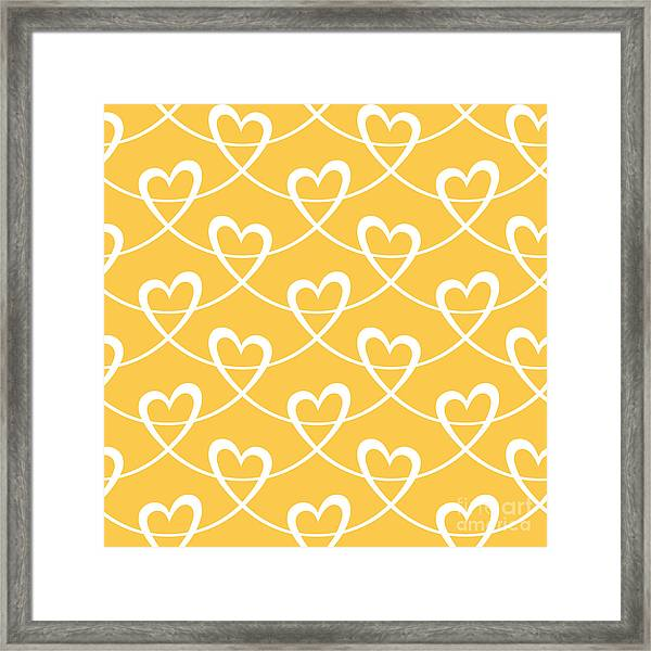 Vector Seamless Pattern With Stylized Framed Print
