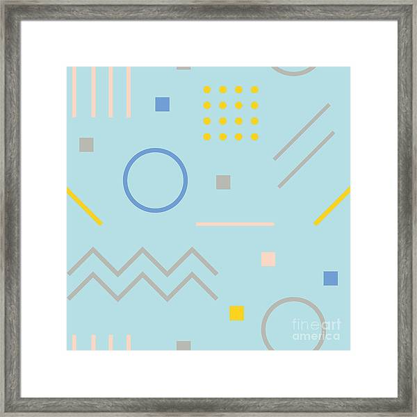 Vector Texture Of Geometric Colorful Framed Print