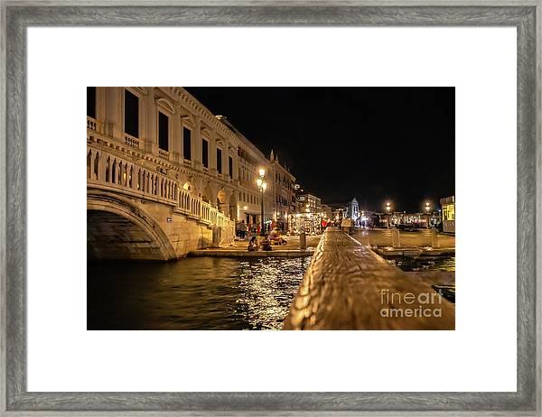 Venice At Night. San Marco Framed Print