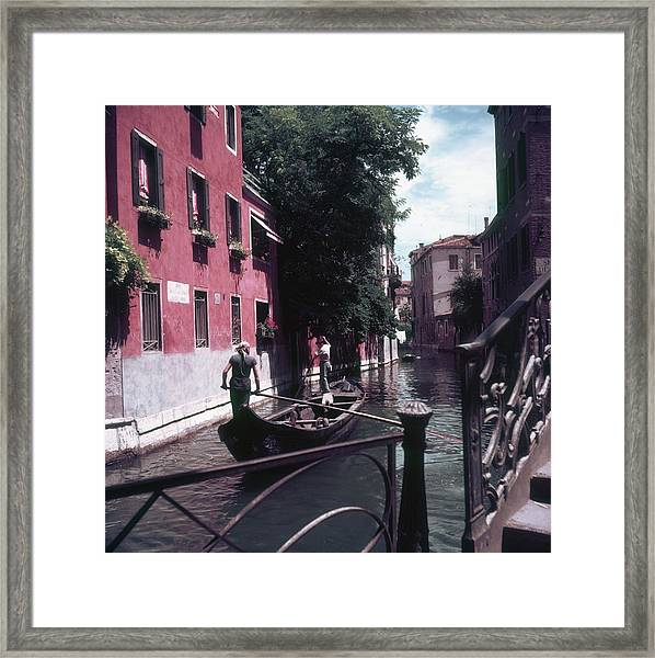 Venice Gondoliers Framed Print