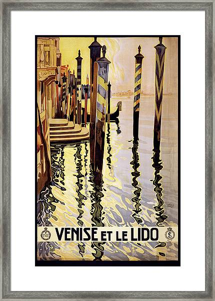 Venice Travel Poster Framed Print