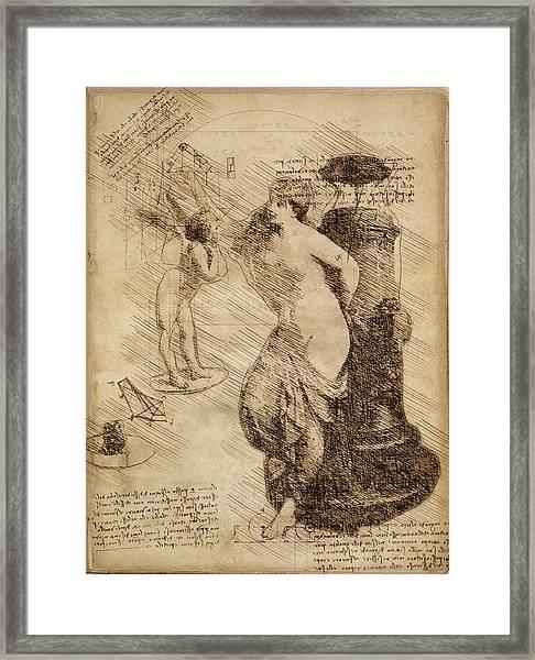 Venus Weigh Cupid Framed Print