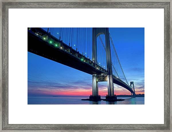 Verazanno Bridge, Manhattan, New York Framed Print