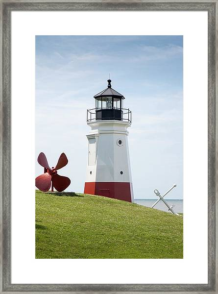 Vermillion Lighthouse Framed Print