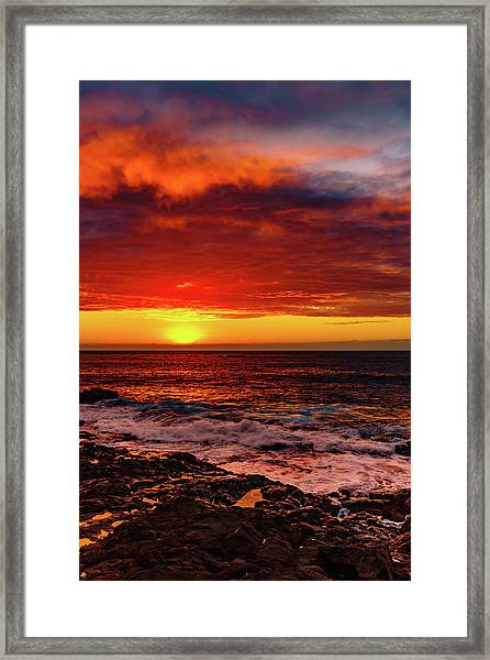 Vertical Warmth Framed Print